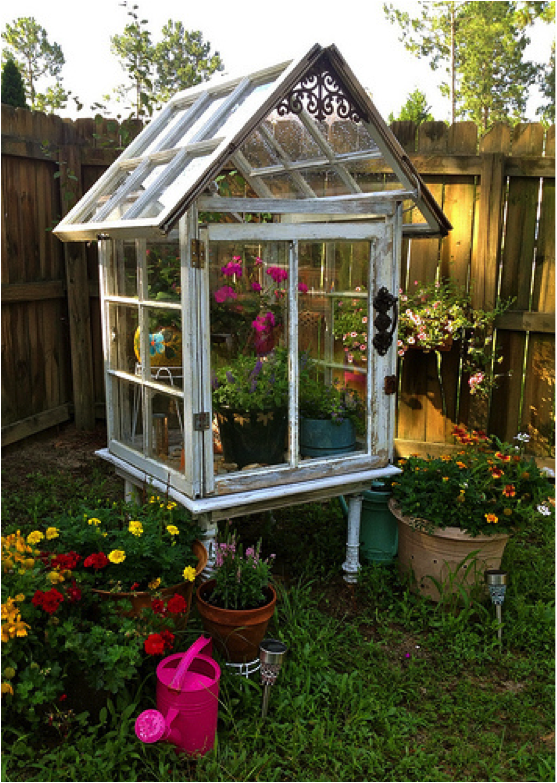 Build Small Greenhouse How To Build A Miniature Greenhouse From Old Windows Global Garden