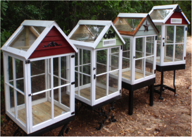 Miniature Greenhouse From Old Windows